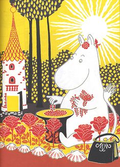 "Illustration from ""The Book about Moomin, Mymble and Little My "" by Tove Jansson Les Moomins, Tove Jansson, Vintage Children's Books, Little My, Children's Book Illustration, Illustrations Posters, The Book, Childrens Books, Just For You"