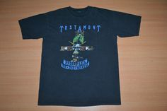 Vintage 90s TESTAMENT The New Order Disciples Of The Watch Tour Concert promo L Size 80s rare T-shirt by OldSchoolZone on Etsy