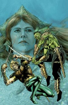 Aquaman vs Atsiul by Jackson Guice