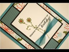 """Blossoming Birthday Card Project"" with Gina K from Gina K Designs and the host of StampTV."