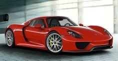 Porsche 918 Spyder - what, a German car in red?