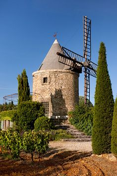 Windmill, near Gordes, Vaucluse, Provence, France. Luberon Provence, Provence France, Old Windmills, Juan Les Pins, Beaux Villages, French Countryside, Rhone, Le Moulin, South Of France