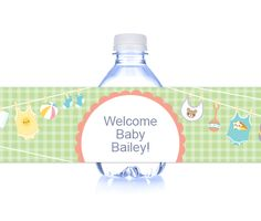 Download this Summer Baby Shower Bottle Wrapper and other free printables from MyScrapNook.com