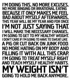 No more excuses.