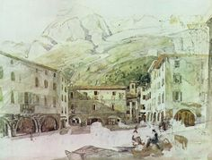 Watercolor from Thomas Ender