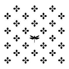 Behang Flo Zwart