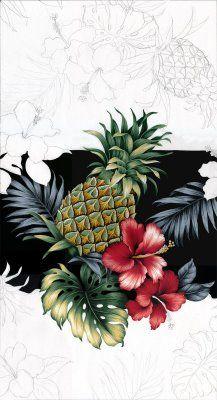 Designing Hawaiian print fabric