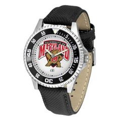 "Maryland Terps NCAA ""Competitor"" Mens Watch by SunTime. $73.79. Rotating Bezel. Color Coordinated. Calendar Date Function. Showcase The Hottest Design In Watches Today! A Functional Rotating Bezel Is Color Coordinated To Highlight Your Favorite Team Logo. A Durable, Long Lasting Combination Nylon/Leather Strap, Together With A Calendar Date, Round Out This Best Selling Timepiece.. Save 10%!"