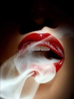 lips - smoking hot lips - photo by Sølve Sundsbø Guy Bourdin, Women Smoking, Girl Smoking, Smoking Weed, Smoking Room, Smoke Art, Up In Smoke, Rauch Fotografie, Lips Photo