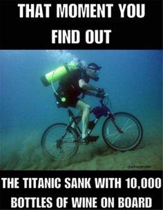 Funny Meme About Titanic #scubadivingquoteshilarious #scubadivingquotesfunny