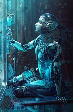 Cyberpunk Kunst, Sci Fi Kunst, Fantasy Kunst, Sci Fi Fantasy, Science Fiction Kunst, Character Art, Character Design, Broken Doll, Detail Art