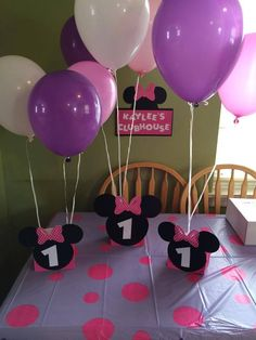 Minnie Mouse Balloon Centerpieces personalized age.Great for birthday parties | Home & Garden, Greeting Cards & Party Supply, Party Supplies | eBay!