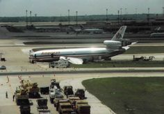 April 14, 1993 - The pilot of American Airlines Flight 102, a McDonnell Douglas DC-10-30, lost directional control during a crosswind landing in rainy conditions and caused the jetliner to slide off Runway 17L at Dallas/Fort Worth International Airport after arriving from Honolulu, Hawaii. The craft dug into deep mud alongside the runway, collapsing the nose landing gear and tearing off the left-hand engine and much of the left wing. 2 passengers suffered serious injuries.