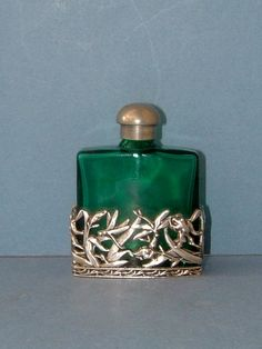 Vintage Emerald Green Perfume Scent Bottle by QueensParkVintage, $35.00