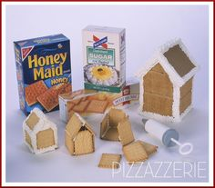 graham cracker gingerbread house instructions + frosting recipe