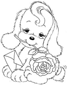 Free coloring animals: coloring pages for printing - New Decoration ideas Puppy Coloring Pages, Coloring Pages To Print, Coloring Book Pages, Printable Coloring Pages, Free Coloring, Coloring Pages For Kids, Precious Moments Coloring Pages, Digital Stamps, Animal Drawings