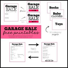 Organizing a garage sale can be super stressful. I've got you covered with these Garage Sale Printables!