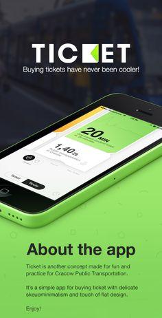 Ticket is a concept of an app to speed up buying ticket for public transportation and making everyday life a bit more effortless.