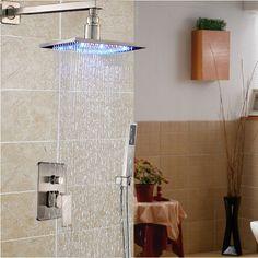 brushed nickel shower faucet set. Online Shop Brushed Nickel Stainless Steel Shower Head Bathroom  Mixer Faucet with Handheld shower LED Color Changing 106 95 Buy Luxury Set Single