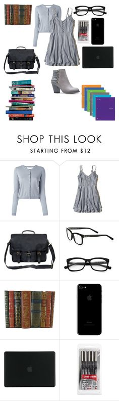 """shy girl"" by shayshayv ❤ liked on Polyvore featuring RED Valentino, Hollister Co., Mahi, Bobbi Brown Cosmetics, 7 For All Mankind, Tucano and Mead"