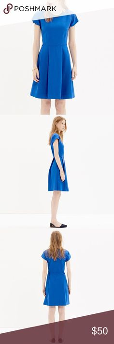 Madewell Matinee Royal blue pleated dress Adorable fit and flare dress from Madewell. Royal blue in color. Short sleeves. Thick material, perfect for Hannukah or the Holidays. Madewell Dresses