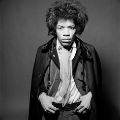Jimi Hendrix photographed by Gered Mankowitz at Mason's Yard studio in London, 1967.