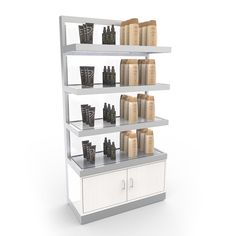Self-liquidating retail floor display