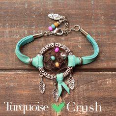 Dreamcatcher Boho Jewelry Bohemian Turquoise. Dream Catcher Layering Bracelet Bohemian Gypsy Boho CHIC Stackable Jewelry by TurquoiseCrush on Etsy https://www.etsy.com/listing/98631884/dreamcatcher-boho-jewelry-bohemian