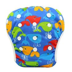 Baby Swim Diaper Cover Waterproof Baby Nappies Changing Training Pants Swimwear Reusable Diapers