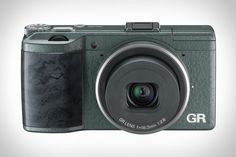 RICOH GR LIMITED EDITION CAMERA | This lightweight point-and-shoot still has a 16 megapixel CMOS sensor, a fixed 28mm f/2.8 lens, full HD video, but it now has a metallic green wave-tone glossy body and a marbleized ebony grip. It will be available in a limited quantity starting in November.