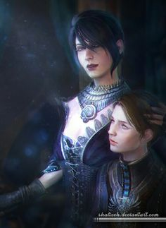 Dragon Age - Morrigan and Kieran by shalizeh