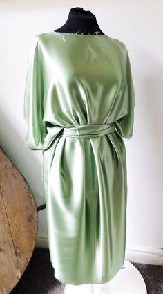 New green silk dress in development - SSF
