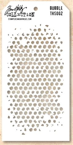 Stamper's Anonymous / Tim Holtz - Layering Stencil - Bubble,$5.49