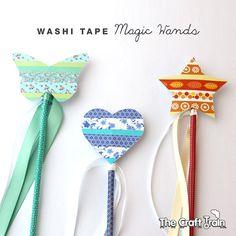 Crear varitas mágicas lindos con la cinta del washi y nuestra plantilla para imprimir gratis