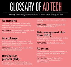 Glossary of Ad Tech - never hurts to have this laying around, especially for new hires