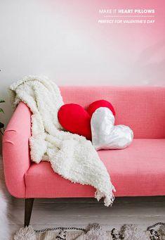 DIY heart pillow   designlovefest