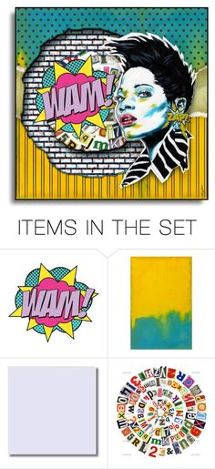 """""""Fun With POP ART - Winners"""" by necyluv ❤ liked on Polyvore featuring art and vintage"""
