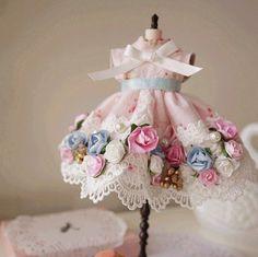 Blythe Baroque Style Pink Floral Dress