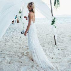 Brautkleider Strandhochzeit: Diese Hochzeitskleider sind perfekt für den Strand! : Fotoalbum - gofeminin