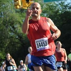 At this year's Brooklyn Half-Marathon, this male runner wore a female bib and won the women's 35-39 age group.