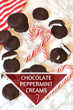 Chocolate Peppermint Creams - Baking with Granny Yummy Treats, Sweet Treats, Yummy Food, Delicious Recipes, Peppermint Creams Recipe, After Dinner Mints, Chocolate Stars, Christmas Baking, Christmas Cookies