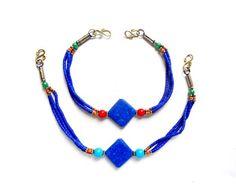 2 Bohemian Style Beaded Necklace/Bracelet Cord Strands - 22-34-4 by TreeChild1 on Etsy
