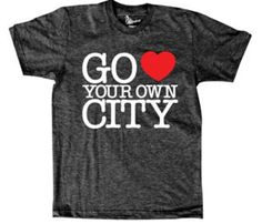 Go Heart Your Own City tee