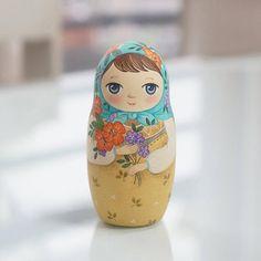 Apple Russian Nesting Dolls-5piece setMatryoshka dolls