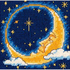 """Moon Dreamer Mini Needlepoint Kit-5""""X5"""" Stitched In Yarn - Overstock™ Shopping - Big Discounts on Dimensions Needlework Kits"""
