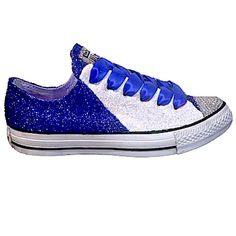 15 OFF with code  PINNED15 Womens Sparkly Royal Blue Glitter Crystals Converse  All Star wedding bride prom shoes - Glitter Shoe Co  Prom… 56304486f