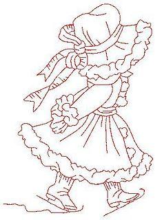 Desenho para bordar/redwork by LA BOTTEGA DI NENA, via Flickr