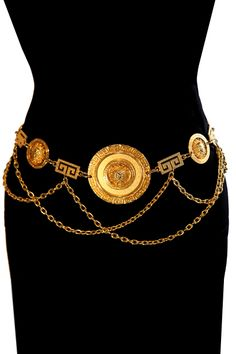 Gold vintage Versace chain belt