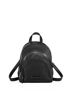 7146d0fdbbde KENDALL + KYLIE Sloane Mini Leather Backpack Mini Black Leather Backpack