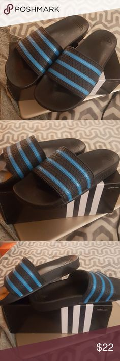 6366e55d3f7831 Men s Adidas Adilette Slide Sandals Size 9 Worn once. Please see all  photos. Black